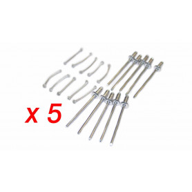Kit rivets + suspente de fixation pour filet racing (50 unités )