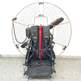TINOX 1400 Safari 125 paramotor with electric starter.