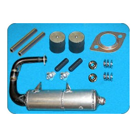 TITANIUM EXHAUST WITH FIXING KIT